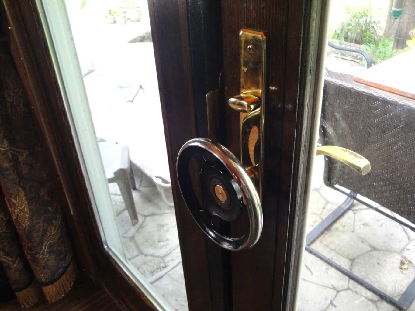 21 Steampunk Hand wheel door handle