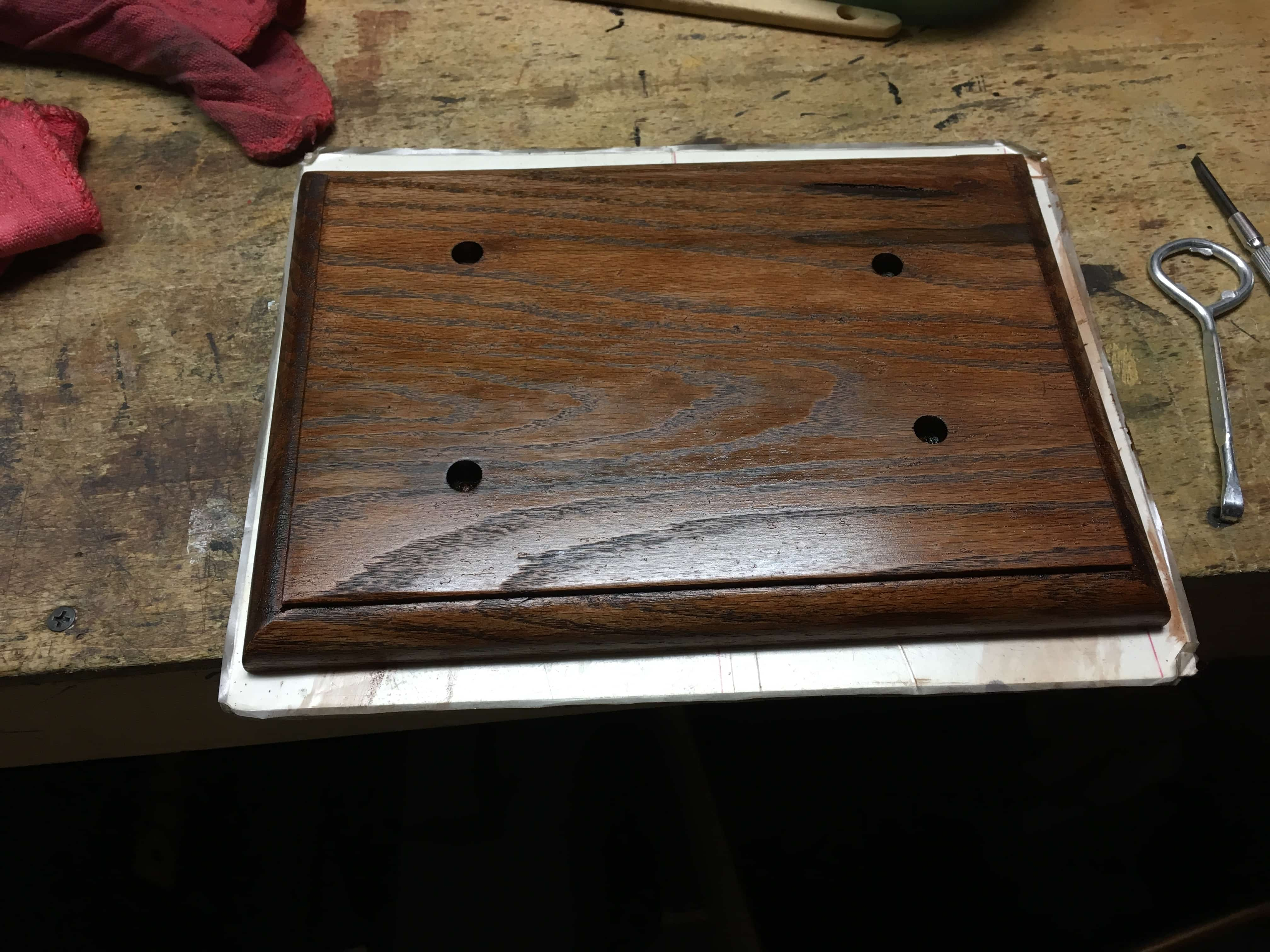 21 base stained
