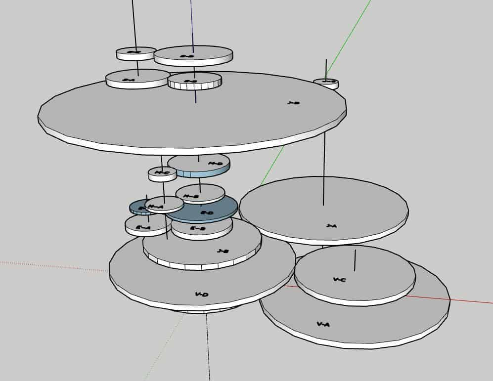 Orrery Gear Layout 4