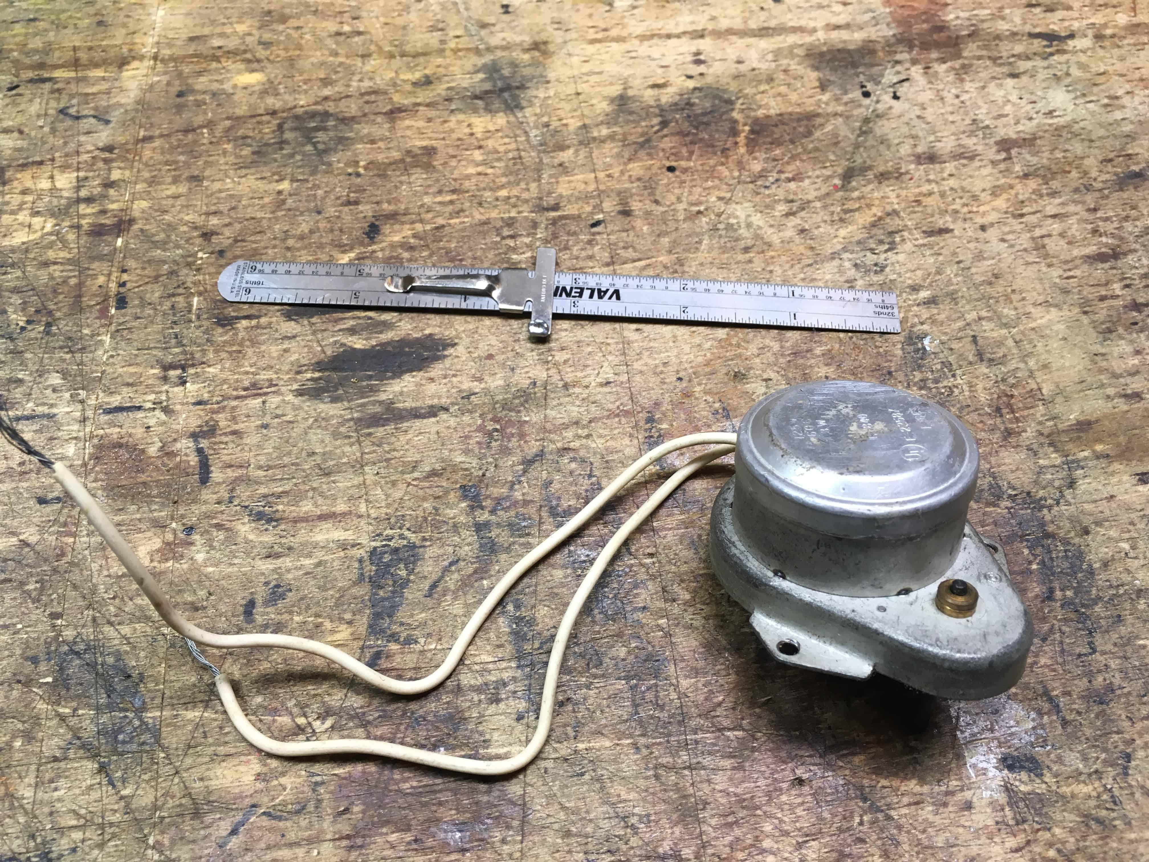 Clock motor for Orrery