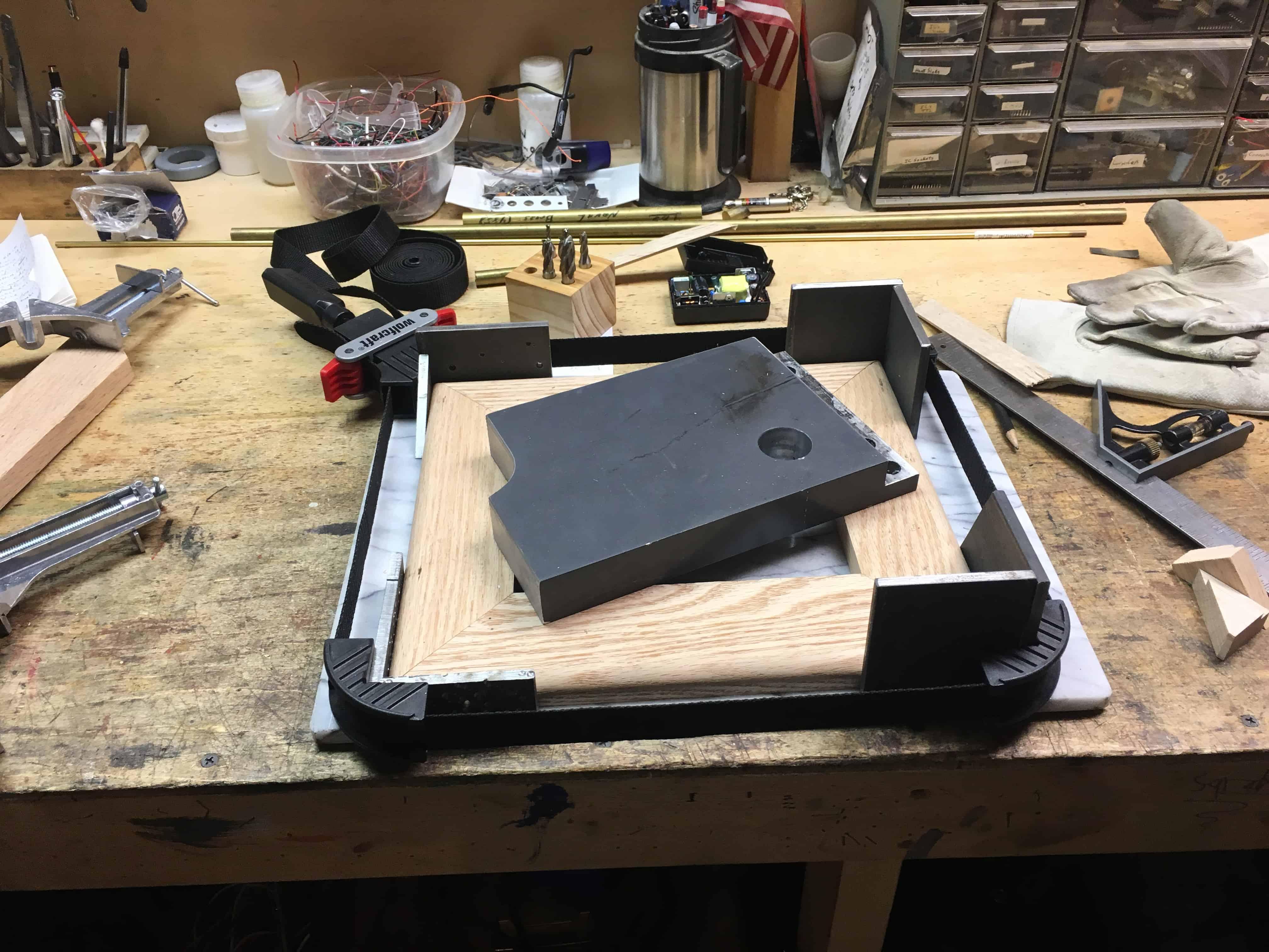 Orrery lower base glued
