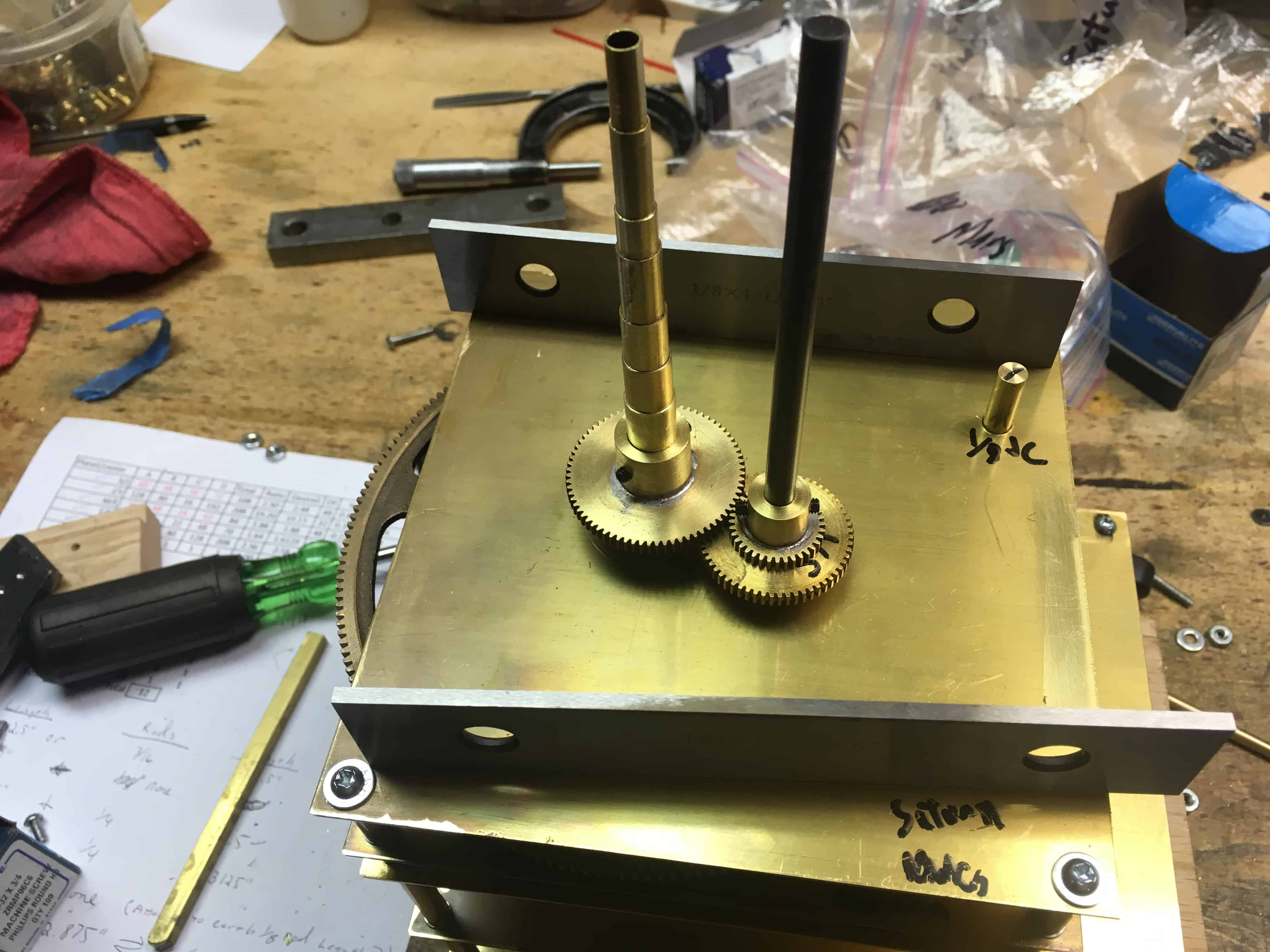 Orrey Saturn level gear setup