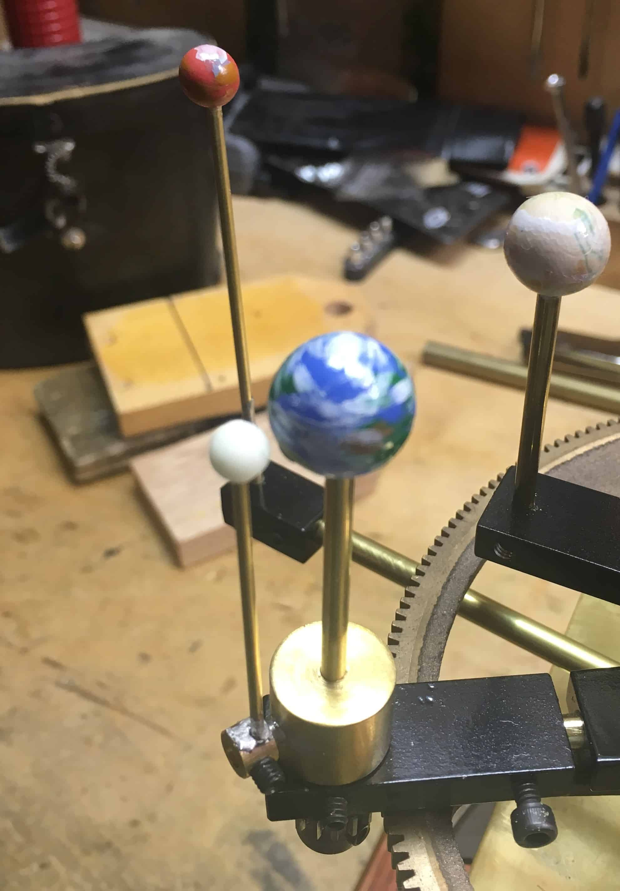 Orrery glow in dark Moon