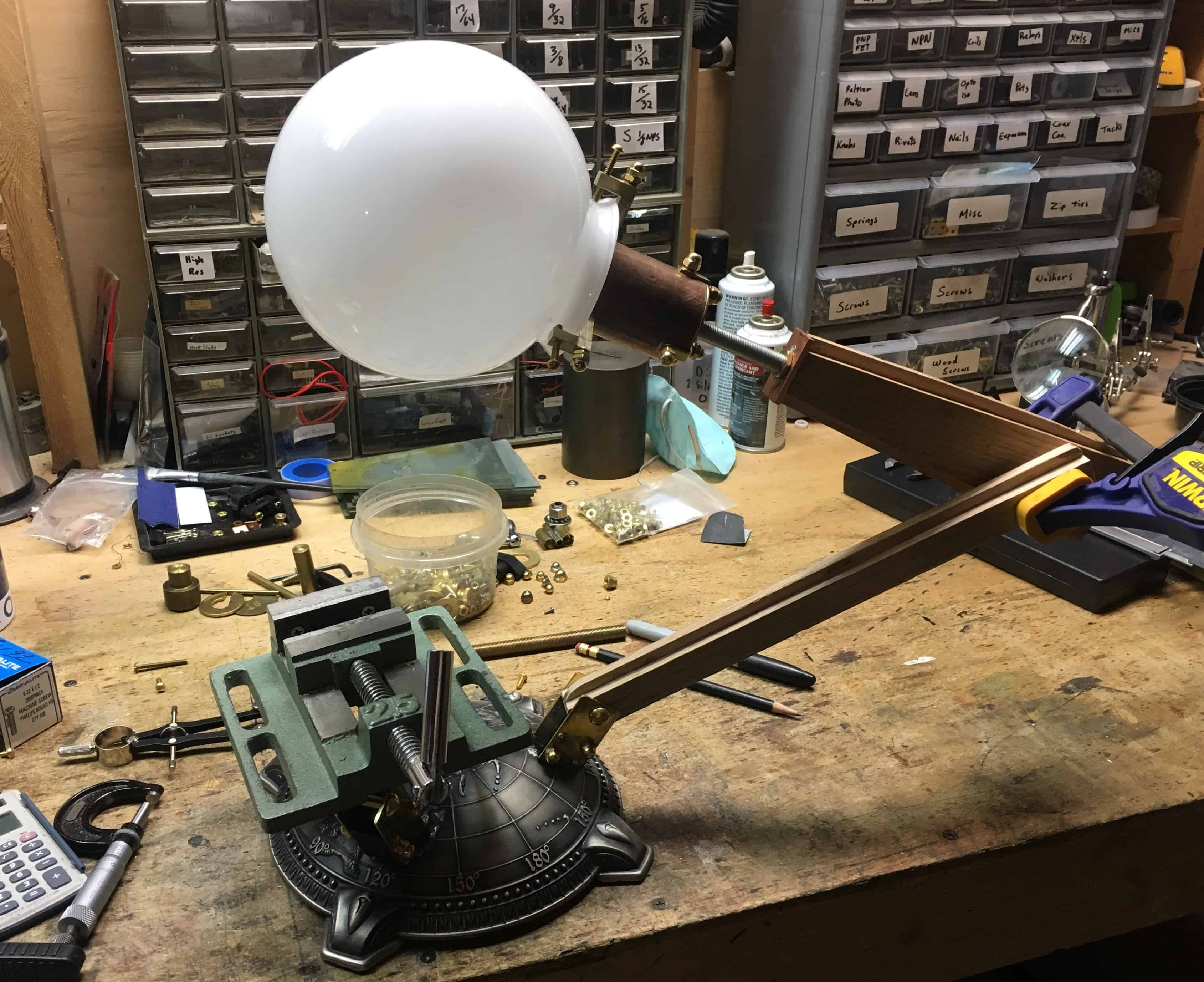 46 Globe arm in place